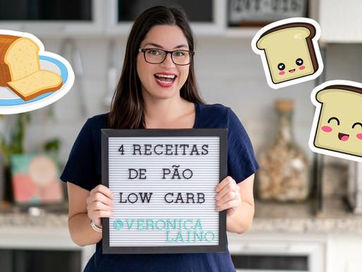 4 RECEITAS DE PÃO LOW CARB