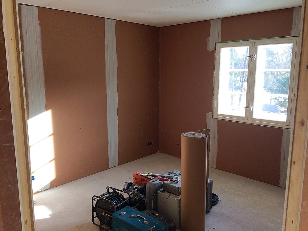 Master bedroom during renovation