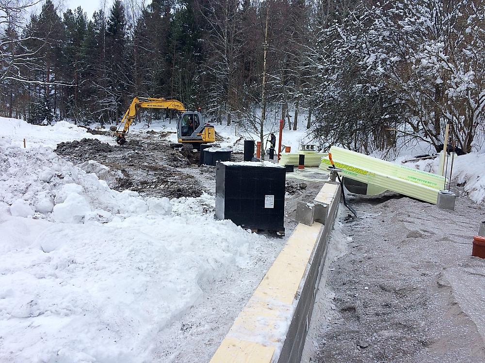 Hiding the sewage tanks below ground