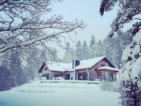 A white January