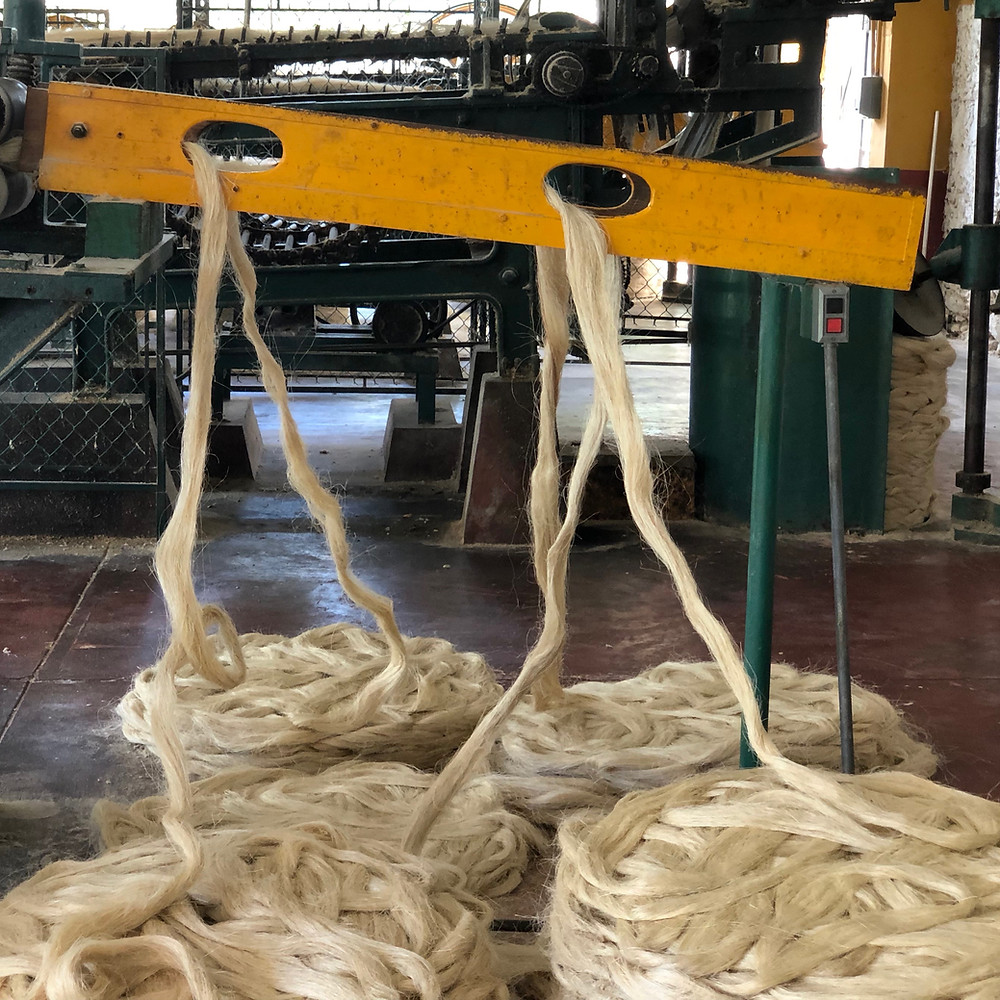 First step in rope production