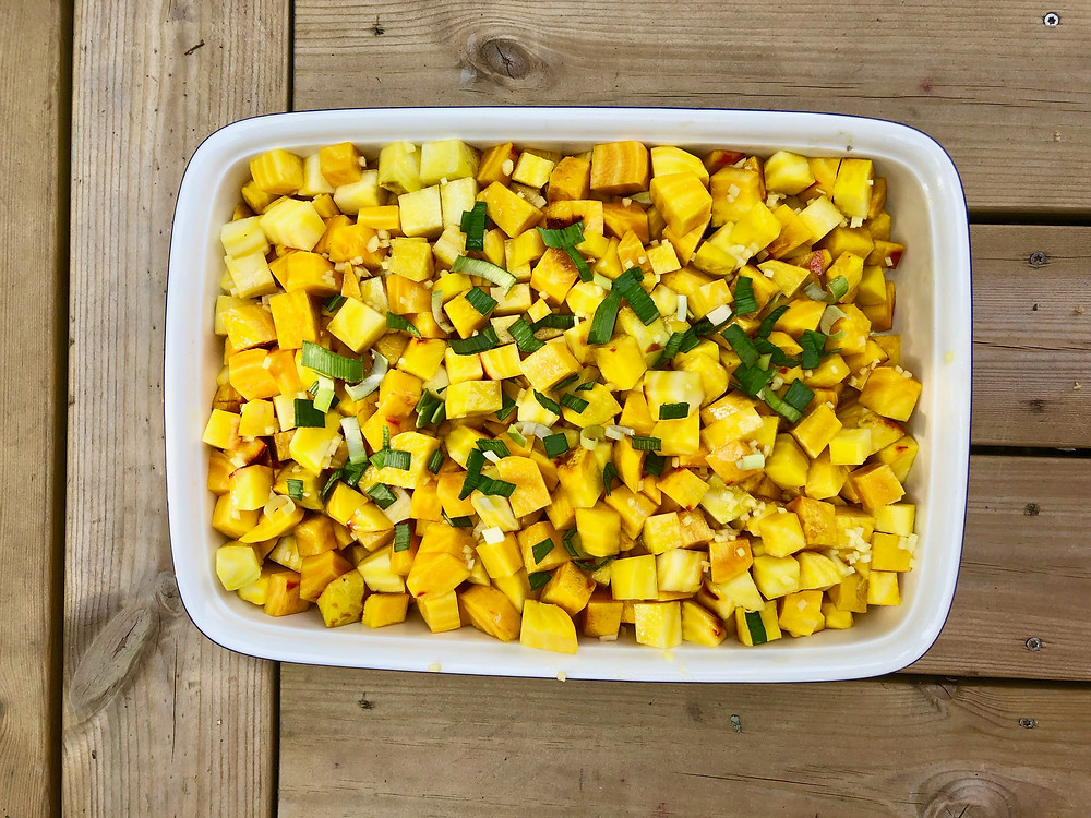 Yellow beetroots