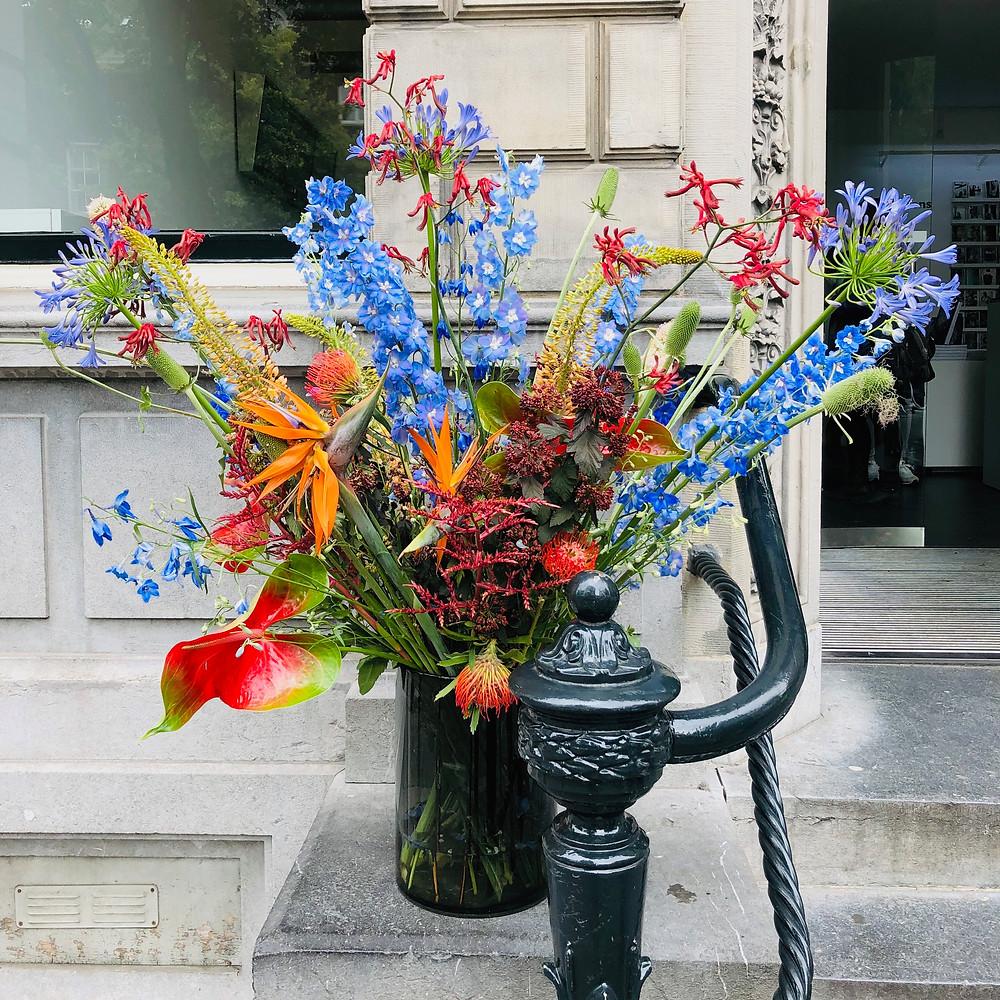 Flower decoration on the street