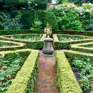 Beautiful sundial in classical setting