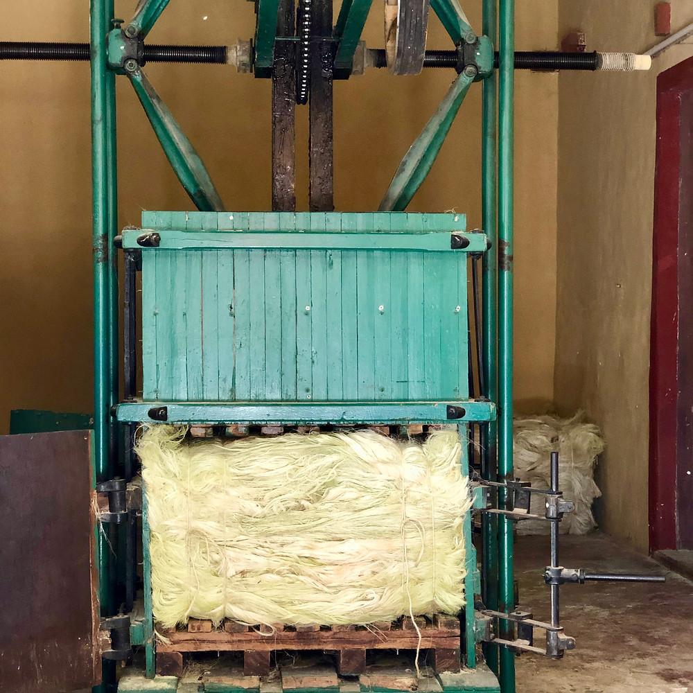 A sisal press