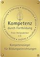 """Siegel """"Kompetenz durch Fortbildung"""" des Vereins Freie Heilpraktiker e.V."""