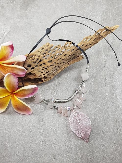 Leaf & Crystal Necklace