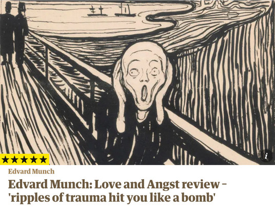 5 Stars for Edvard Munch: Love and Angst Exhibition