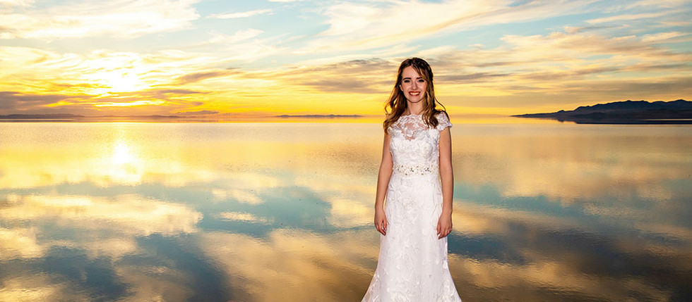 Spring Antelope Island Bridal Session with Lindsey