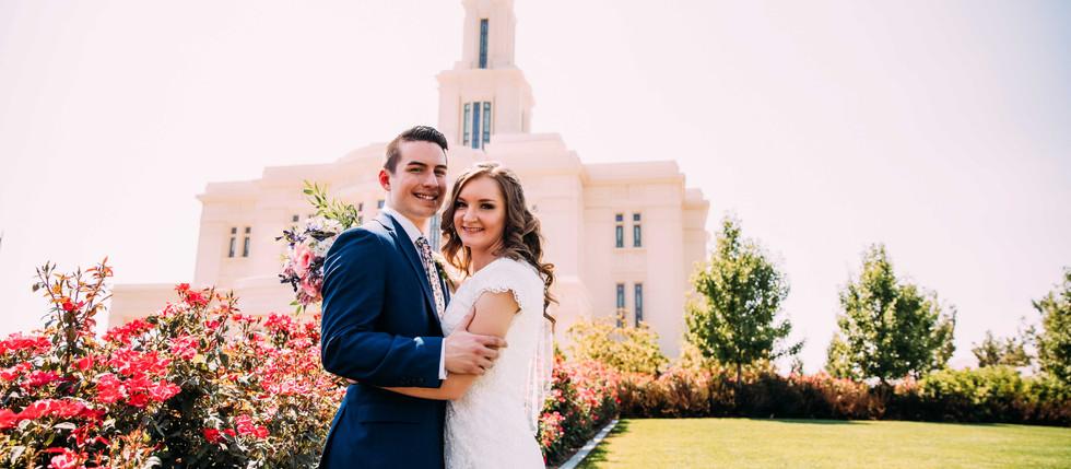 Summer Payson Temple Wedding with Brandi & Tom