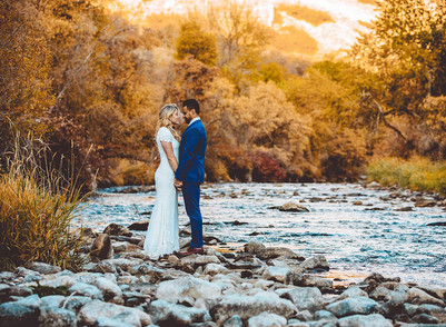 Fall Canyon View Park Bride & Groom Session