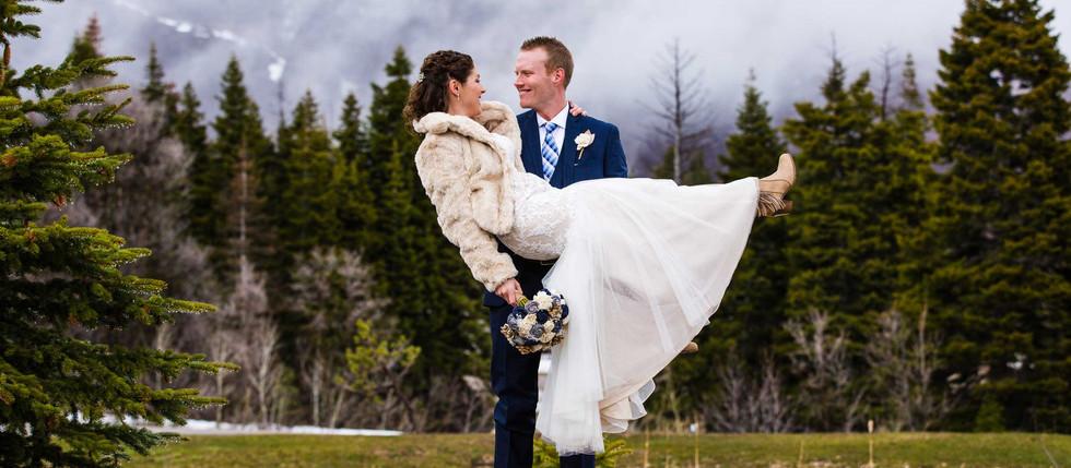 Winter Snow Basin Wedding with Jordan & Kevin