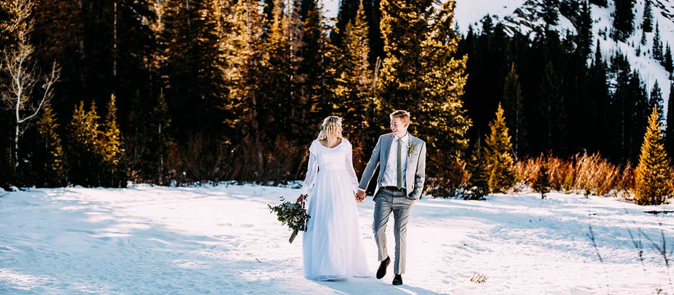 Winter Silver Lake Bride and Groom Session with Rachel & Brett