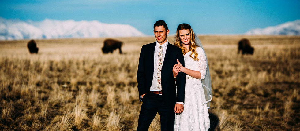Spring Antelope Island Bride and Groom Session with Megan & James