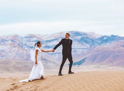 Little Sahara Bride and Groom Session