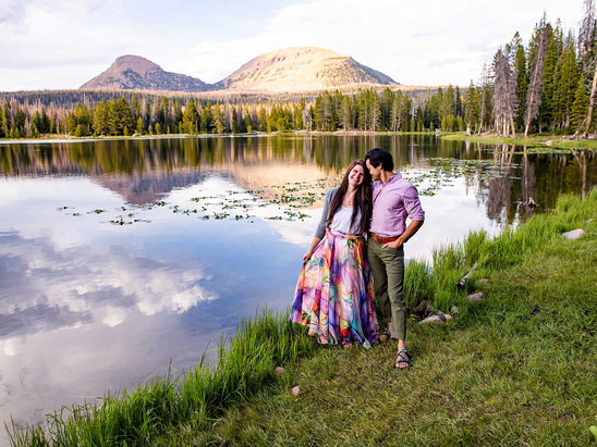 Summer Teapot Lake Engagement Session with Maggie & Dan