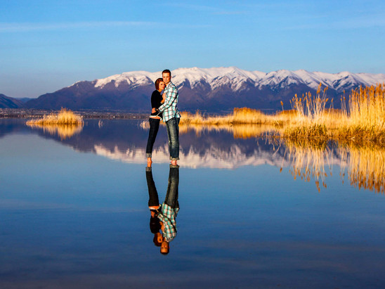 Summer Antelope Island Engagement with Sarah & Parker