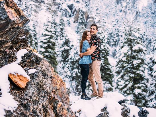 Winter Jordan Pines Engagement
