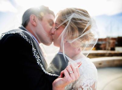 Winter Provo City Center Temple Wedding