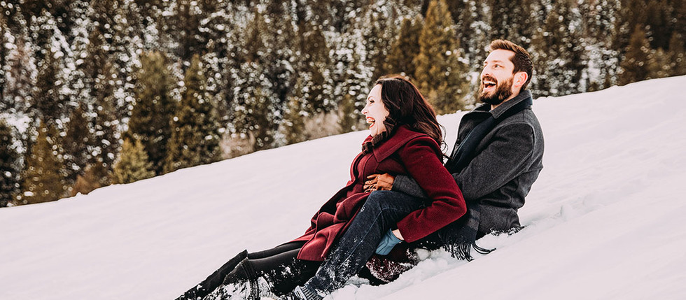 Winter Tibble Fork Engagement Session with Lisa & Lance