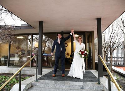 Winter Salt Lake Temple Wedding