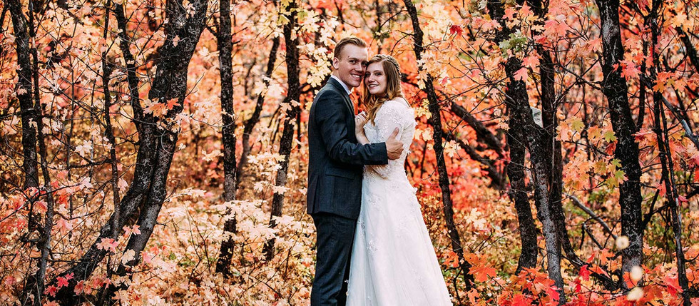 Fall Big Springs Park Bride & Groom Session with Kilee & Ethan
