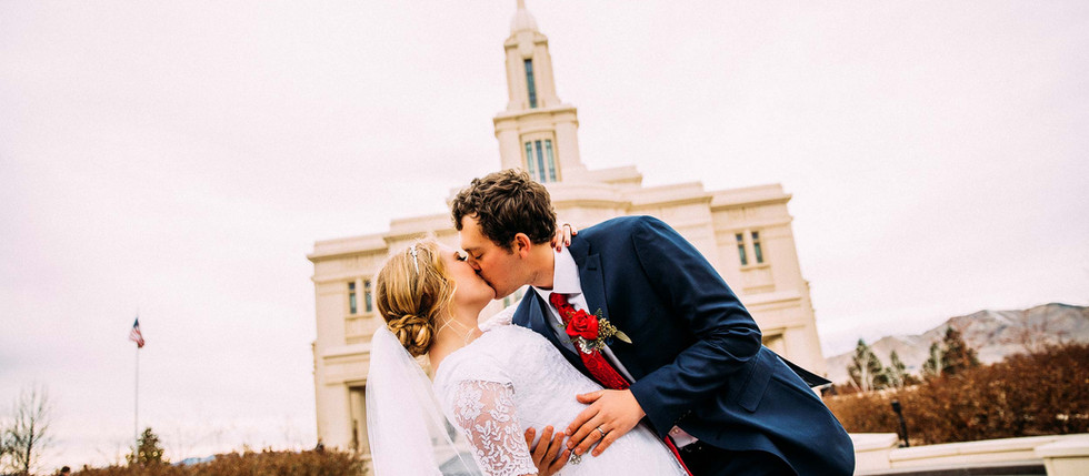 Winter Payson Temple Wedding with Alyssa & Spencer