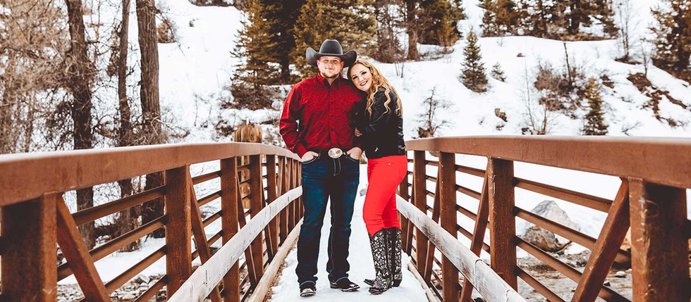 Winter Tibble Fork Cowboy & Rodeo Queen Engagement with McKenna & Camron