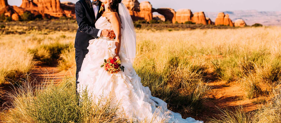 Summer Arches National Park Wedding with Amber & Brian