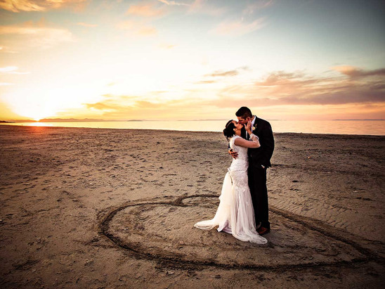 Fall Antelope Island Bride and Groom Session with Josie & Jeff