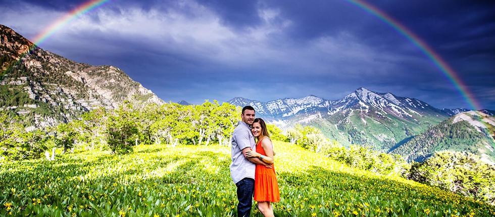 Summer Squaw Peak Engagement Session with Megan & Josh
