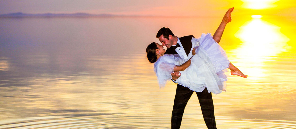 Summer Antelope Island Bride and Groom Session with Kayla & Michael