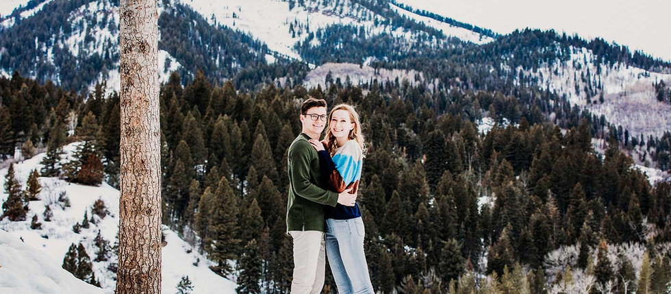 Tibble Fork Winter Engagement with Grace & Thayne