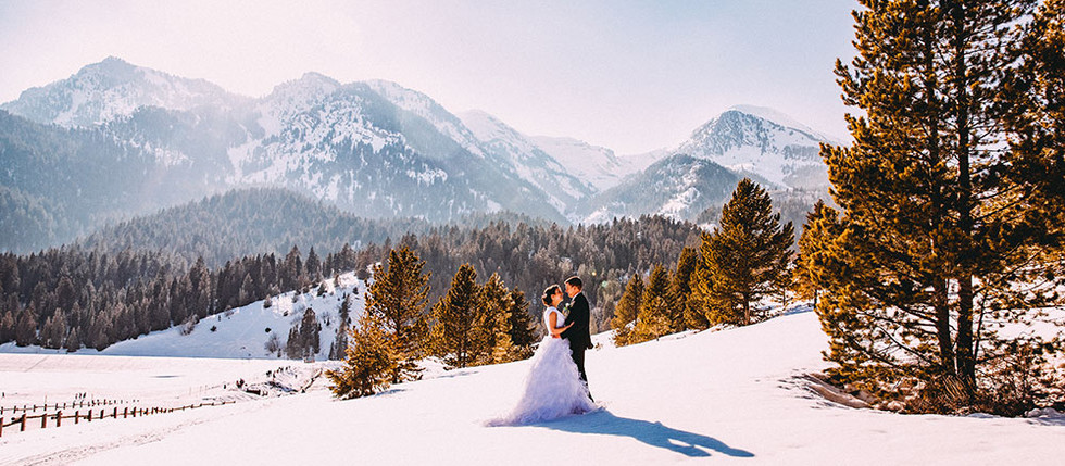 Winter Tibble Fork Bride & Groom Session with Kathryn & Jared