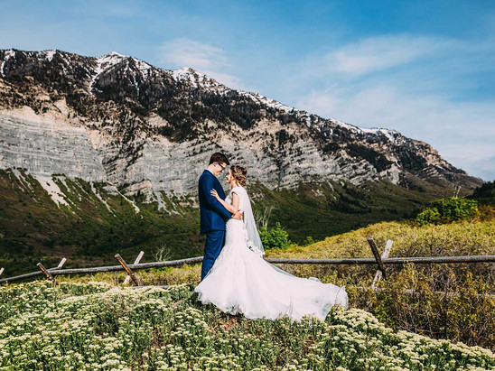 Spring Squaw Peak Bride & Groom Session with Grace & Ethan