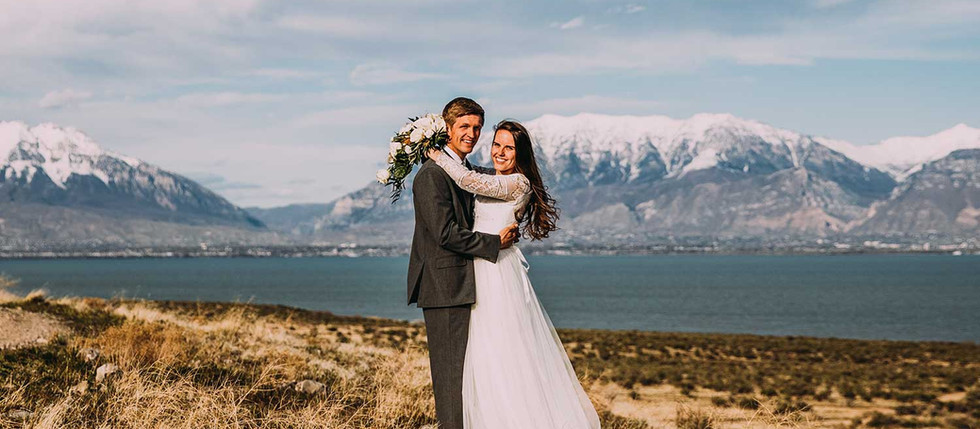 Spring Utah Lake Bride & Groom Session with Emily & Jesse