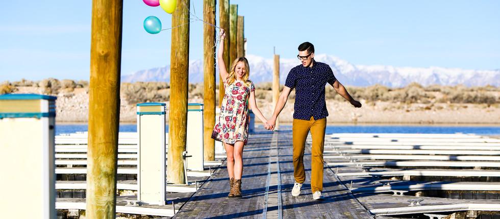 Summer Antelope Island Engagement with Samantha & Paul