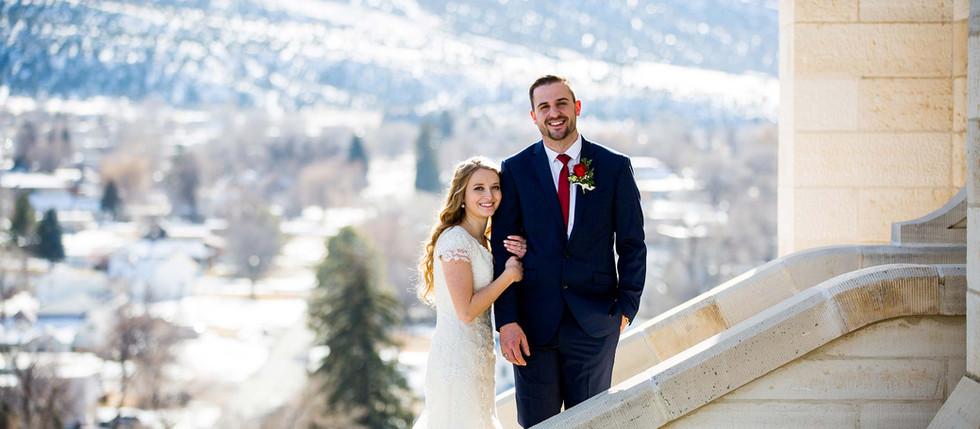 Winter Manti Temple Wedding with Taylor & Logan