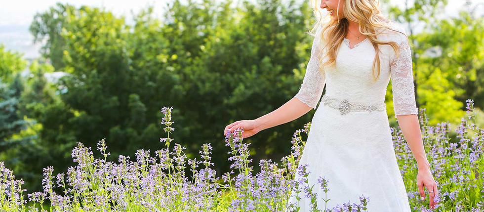 Summer Red Butte Gardens Bridal with Kyrsti