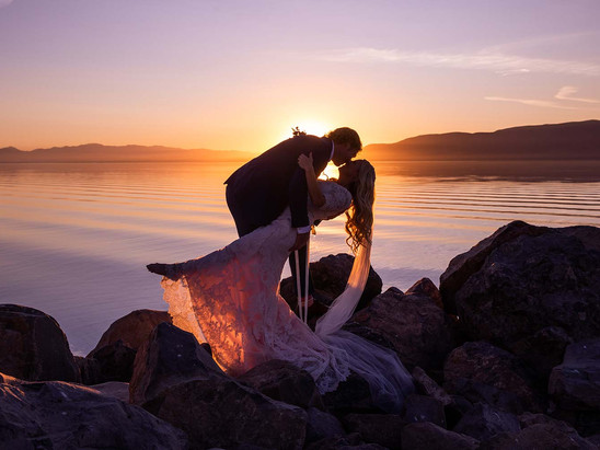 Fall Utah Lake State Park Bride & Groom Session with Michelle & Chad