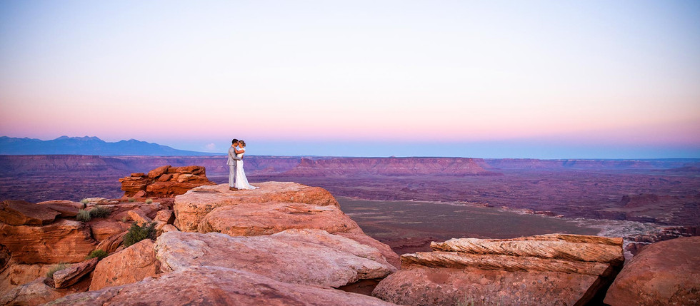 Canyonlands National Park Bride and Groom Session with Emme & Daniel