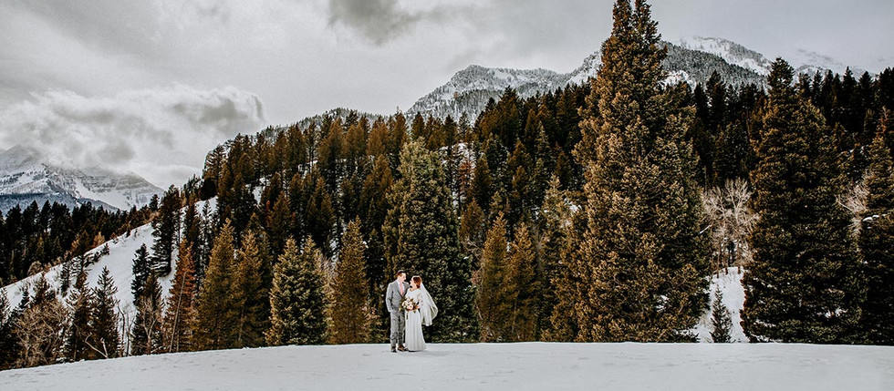 Winter Tibble Fork Bride and Groom Session with Emma & Nathan