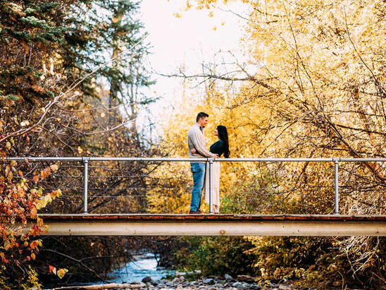 Fall Sawmill Campground Engagement Session with Josie & Jeff