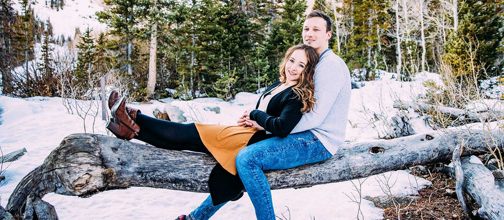 Winter Engagement at Silver Lake with Morgan & Tyler