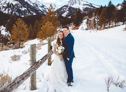 Tibble Fork Reservoir Winter Bride & Groom Session