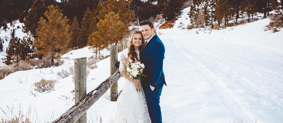 Tibble Fork Reservoir Winter Bride & Groom Session with Courtney & Nathan