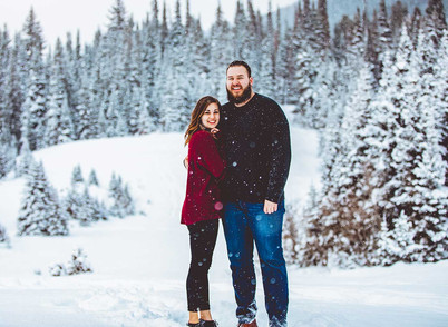 Jordan Pines Snowy Engagement
