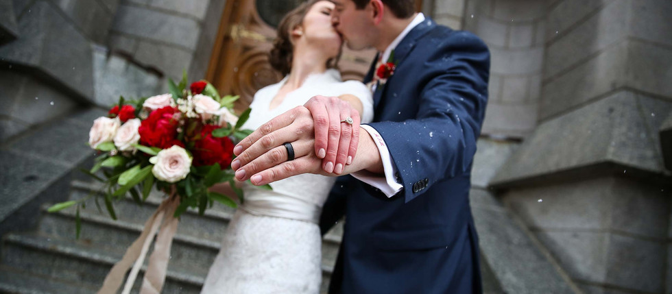 Winter Salt Lake Temple Wedding with Brittnie & Adam