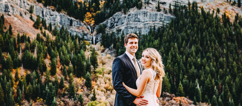 Fall Slide Canyon Bride & Groom Session with Natalie & Talbot