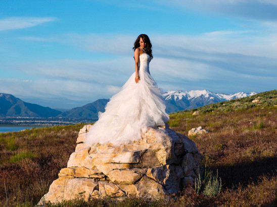 Summer Antelope Island Bridal Session with Chantel